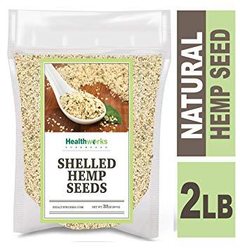 Healthworks Shelled Hemp Seeds Organic Canadian (32 Ounces/2lb)