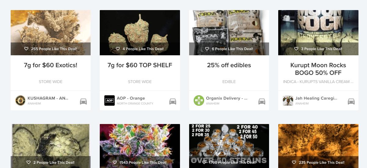 Weedmaps Deals