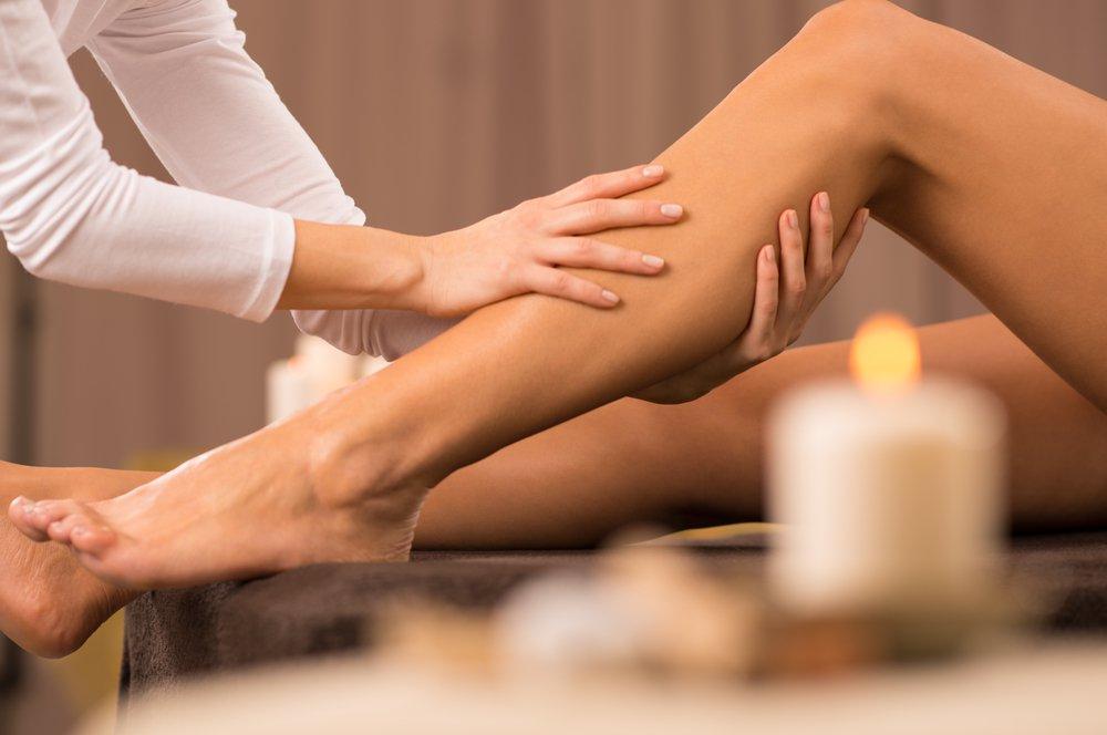 massage leg cramps