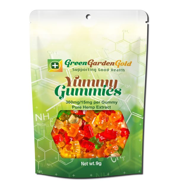 Review of Green Garden Gold's 24 Count Yummy Gummies 360mg/15mg Each