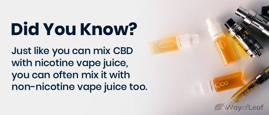 can you smoke cbd oil in a vape