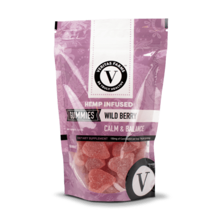 veritas farms cbd gummies: wild berry calm and balance